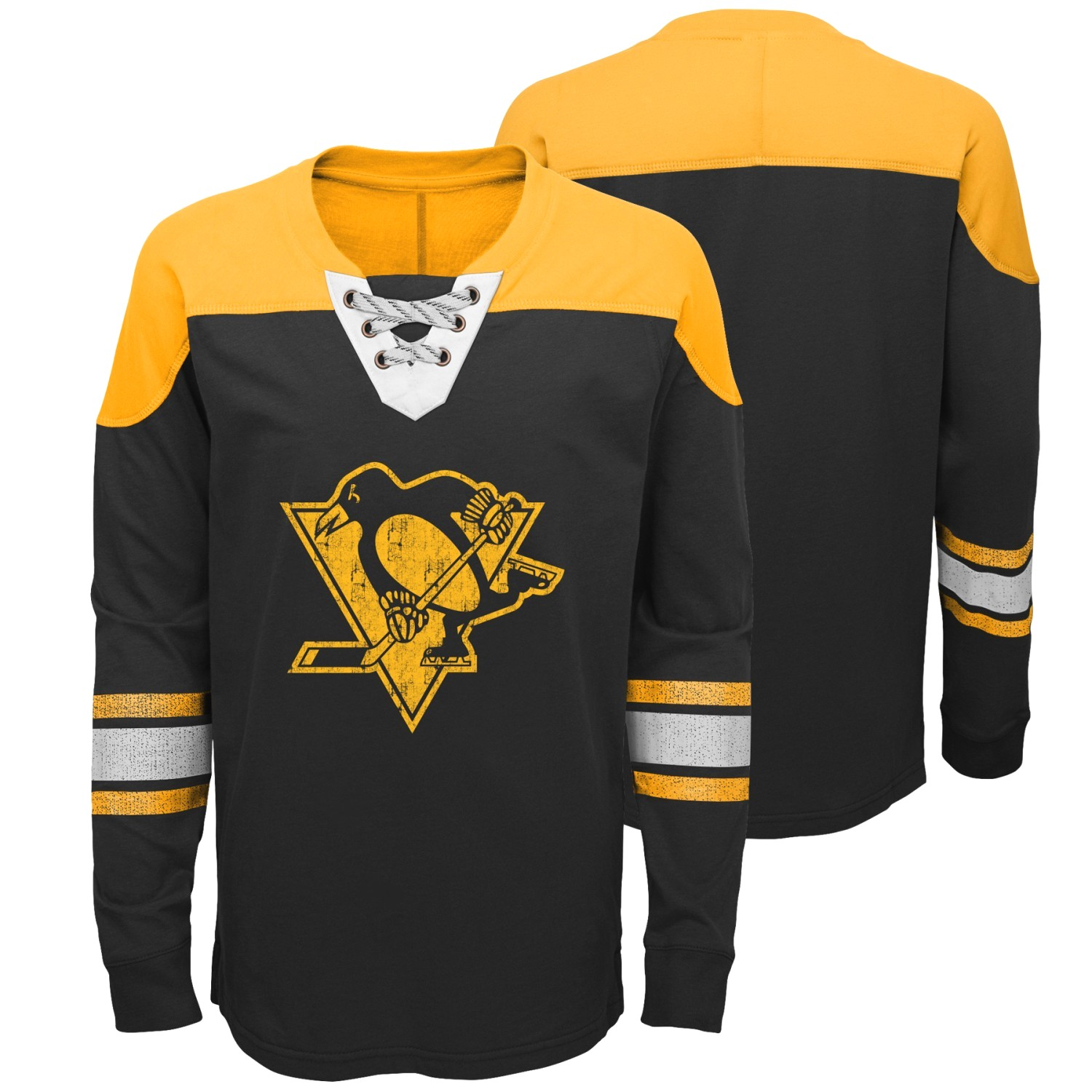 "Pittsburgh Penguins NHL ""Perennial"" Youth Long Sleeve Hockey Crew Shirt"